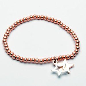 Stretch Bracelet with Twin Stars