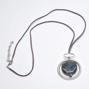 Circle and Stone Pendant
