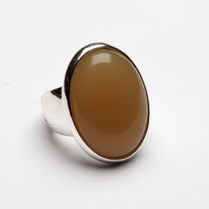 Resin Set Oval Face Ring