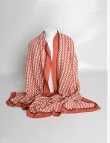 Pink/Grey Abstract Design Scarf