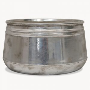 Rib Etched Planter in Silver Finish