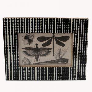 Striped Black & White Photo Frame