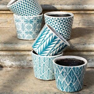 Old Style Dutch Pots in Teal