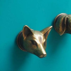 Gold Decorative Fox Hook
