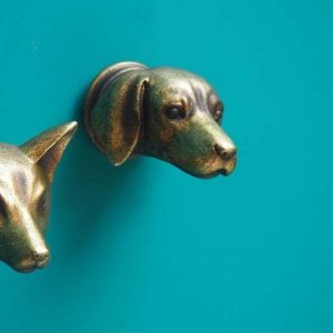 Gold Decorative Dog Hook