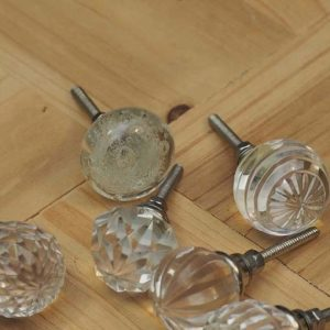 Vintage Clear Glass Door Knob