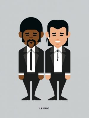 Le Duo Solo Pulp Fiction Greetings Card