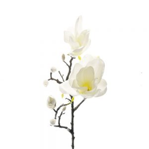 Magnolia White Faux Bloom