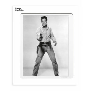 Elvis Presley with Colt Photographic Print 30x40cm