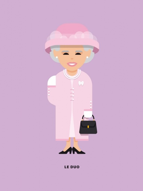 Le Duo Solo The Queen Greetings Card
