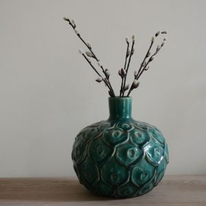 Stem Vase Peacock