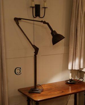 Antique Iron Industrial Floor Lamp