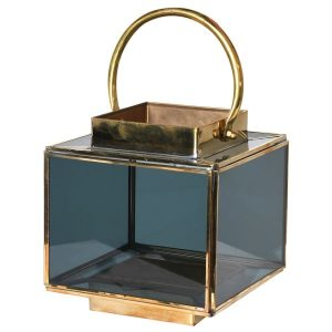 Smoked Glass Box Lantern