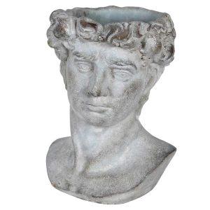 Grecian Cement Face Planter