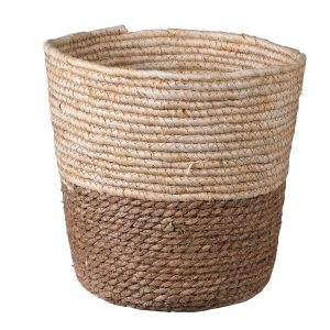 Two Tone Natural Waste Paper Bin