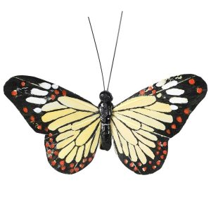 Cream Butterfly On Clip