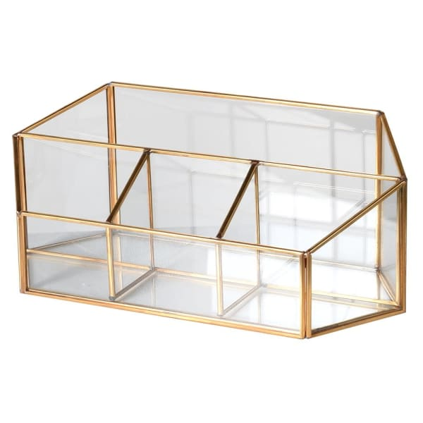 Brass & Glass Dressing Table Tidy
