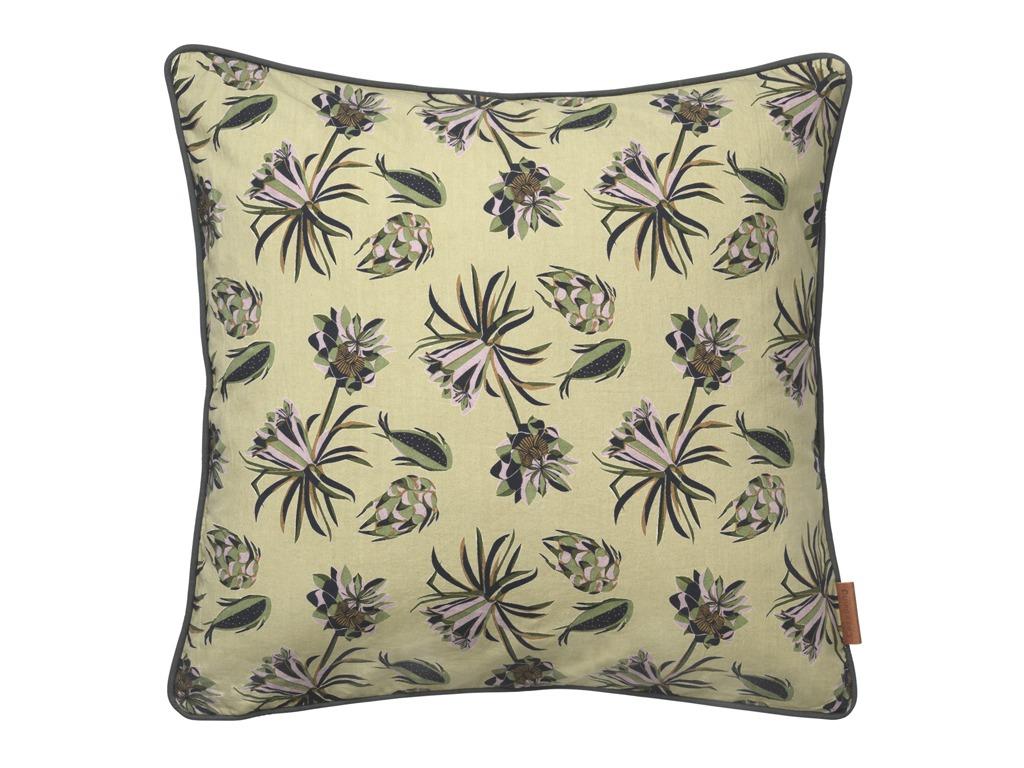 Army Palm Flower Square Cushion