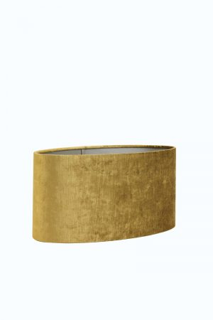 Ochre Velour Oval Lampshade
