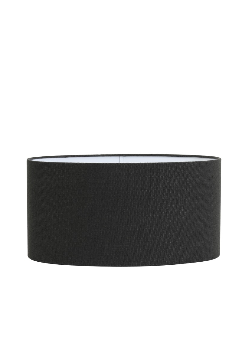Black Velour Oval Lampshade