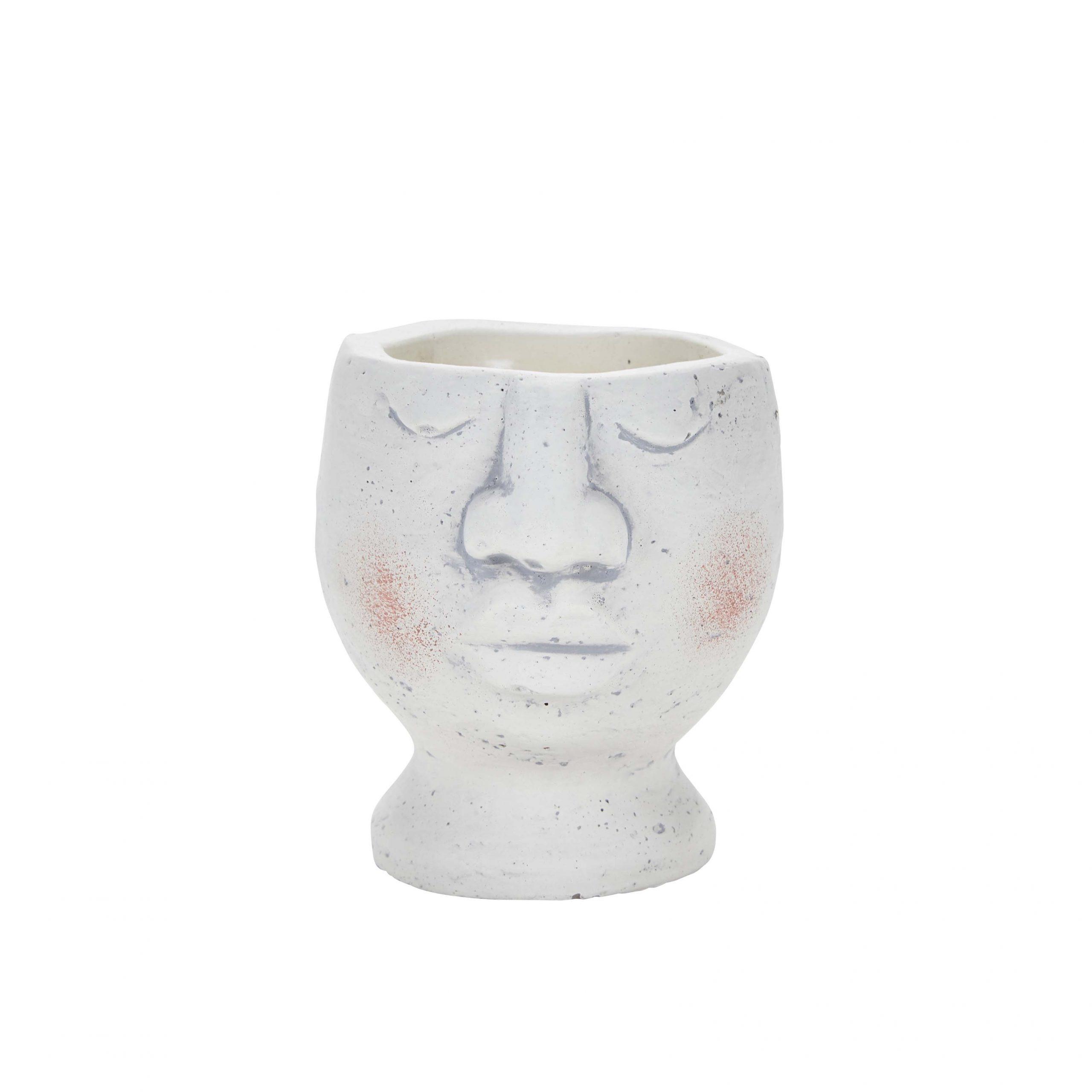 Small Face Pot Closed Eyes