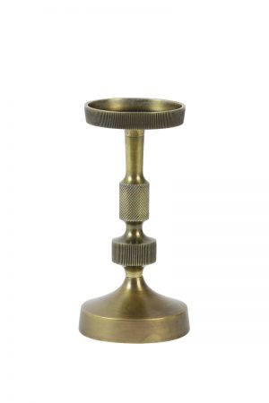 Antique Bronze Chunky Candlestick