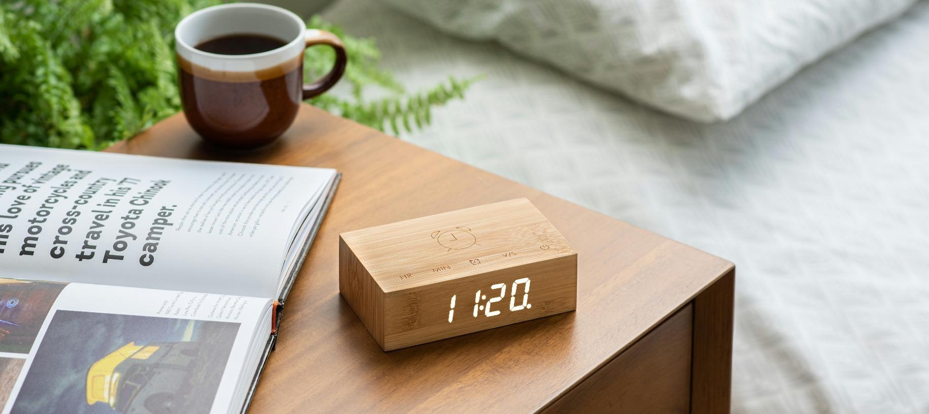 Bamboo Flip Click Clock