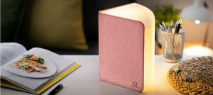 LED Smart Book Light Blush Pink