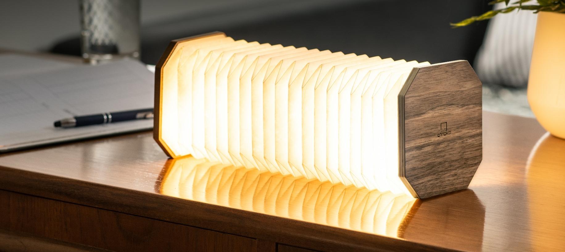 Smart Accordion Lamp Walnut