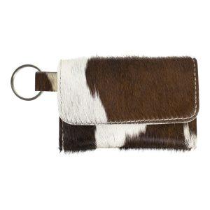 Brown & White Keychain Pouch