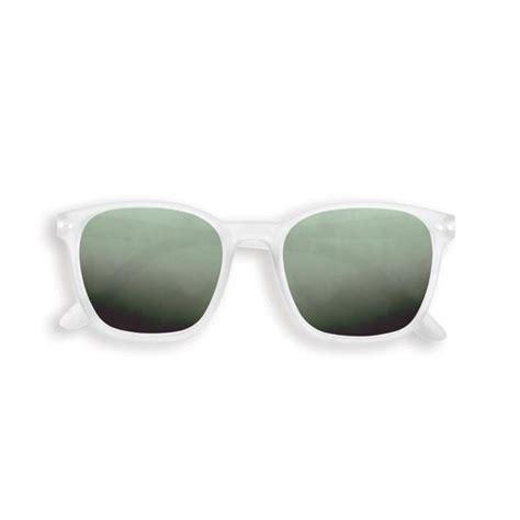 Izipizi #E Sunglasses in White Crystal