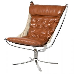 Brown Leather Safari Chair