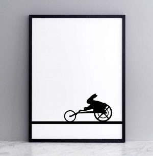 Framed Paralympic Rabbit Print
