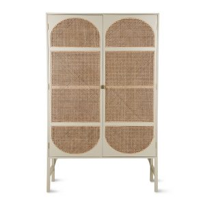Grey Retro Webbing Cabinet with Shelves