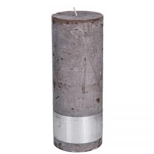PTMD Rustic Ambient Brown Pillar Candle 18x7cm