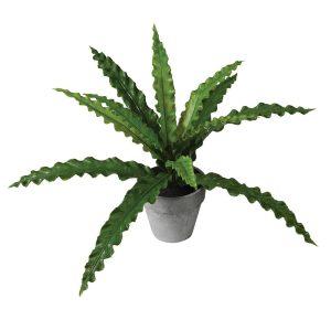 Faux Green Pteris fern in Pot