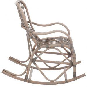 Rattan Grey Rocking Chair