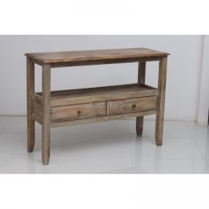 Natural Honey Console Table