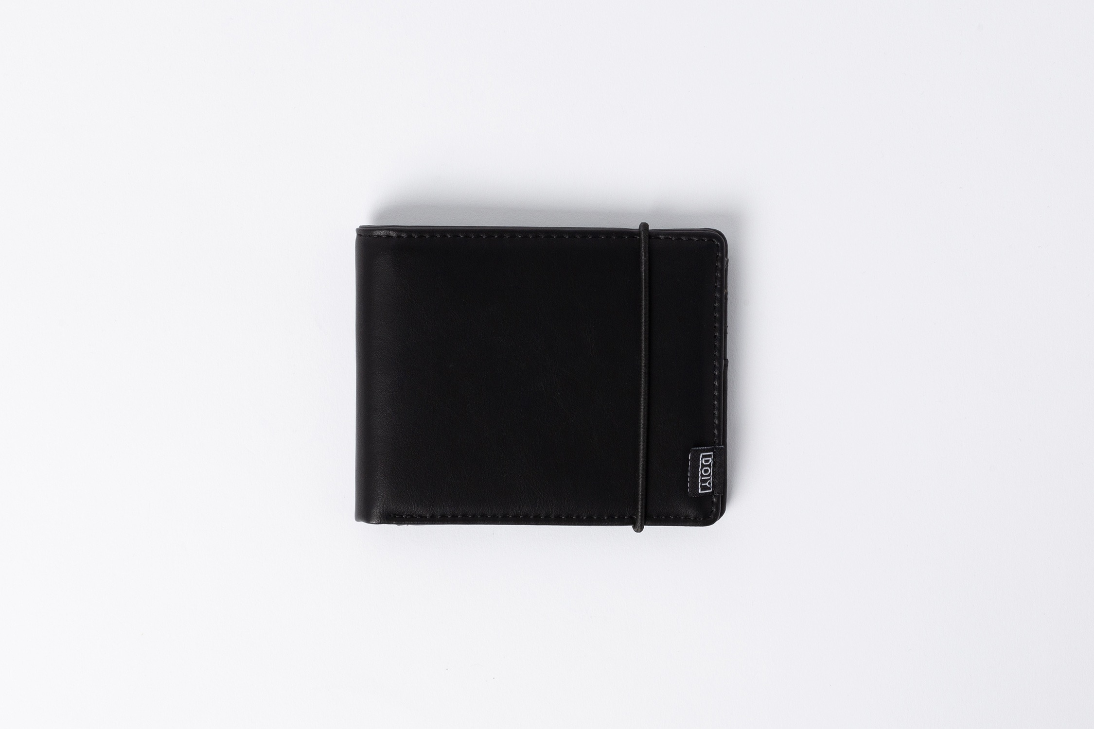 Honom Black Faux Leather Wallet