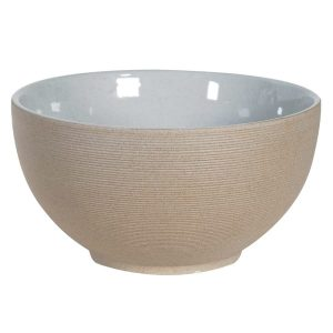 Grey Ribbed Porcelain Serving Bowl