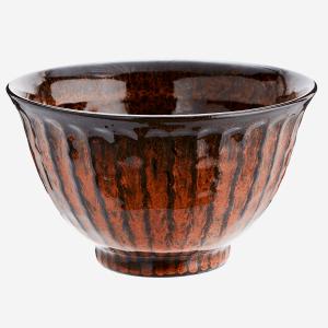 Deep Orange Stoneware Bowl