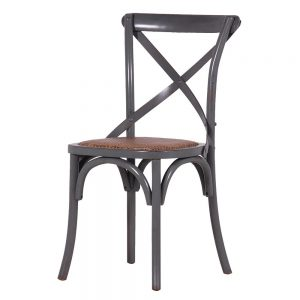 Grey Cross Back Bistro Dining Chair