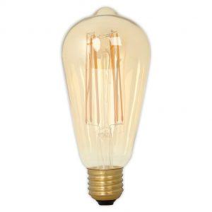 Calex E27 LED Filament Rustic Shape Bulb Gold