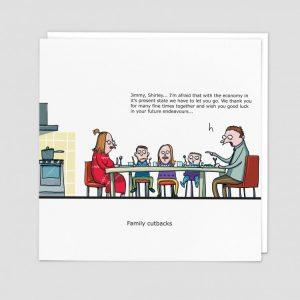 Greetings Card Family Cutbacks