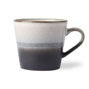 Ceramic Black & White Cappuccino Mug