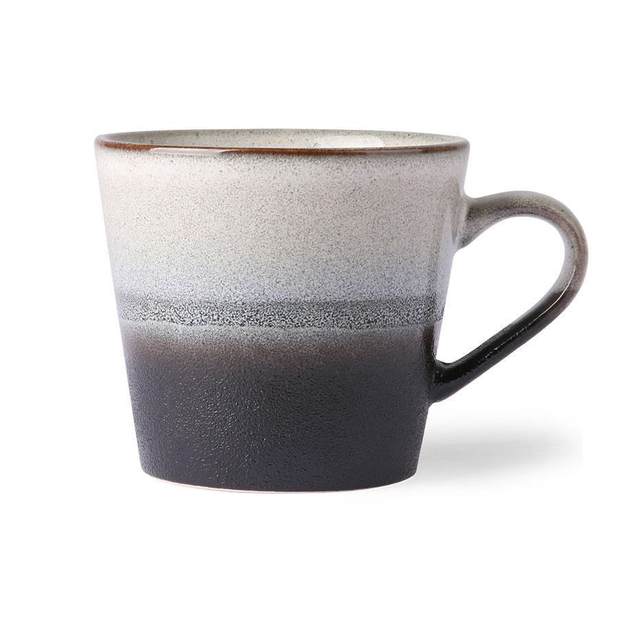 Ceramic Black & White Cappuccino Mug