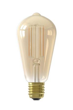 Calex Smart Rustic Filament LED Bulb Gold