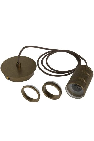 Calex Antique Bronze Pendant E27 Cord Set