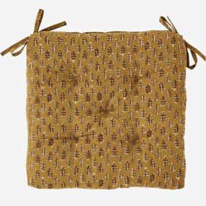 Mustard Summer Print Seat Pad