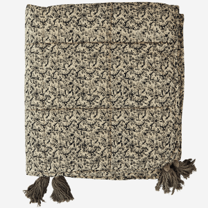 Olive Print Light Wadded Throw